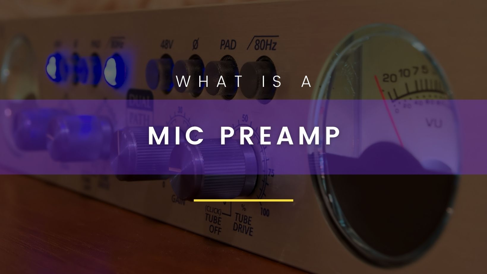 What is a mic preamp?
