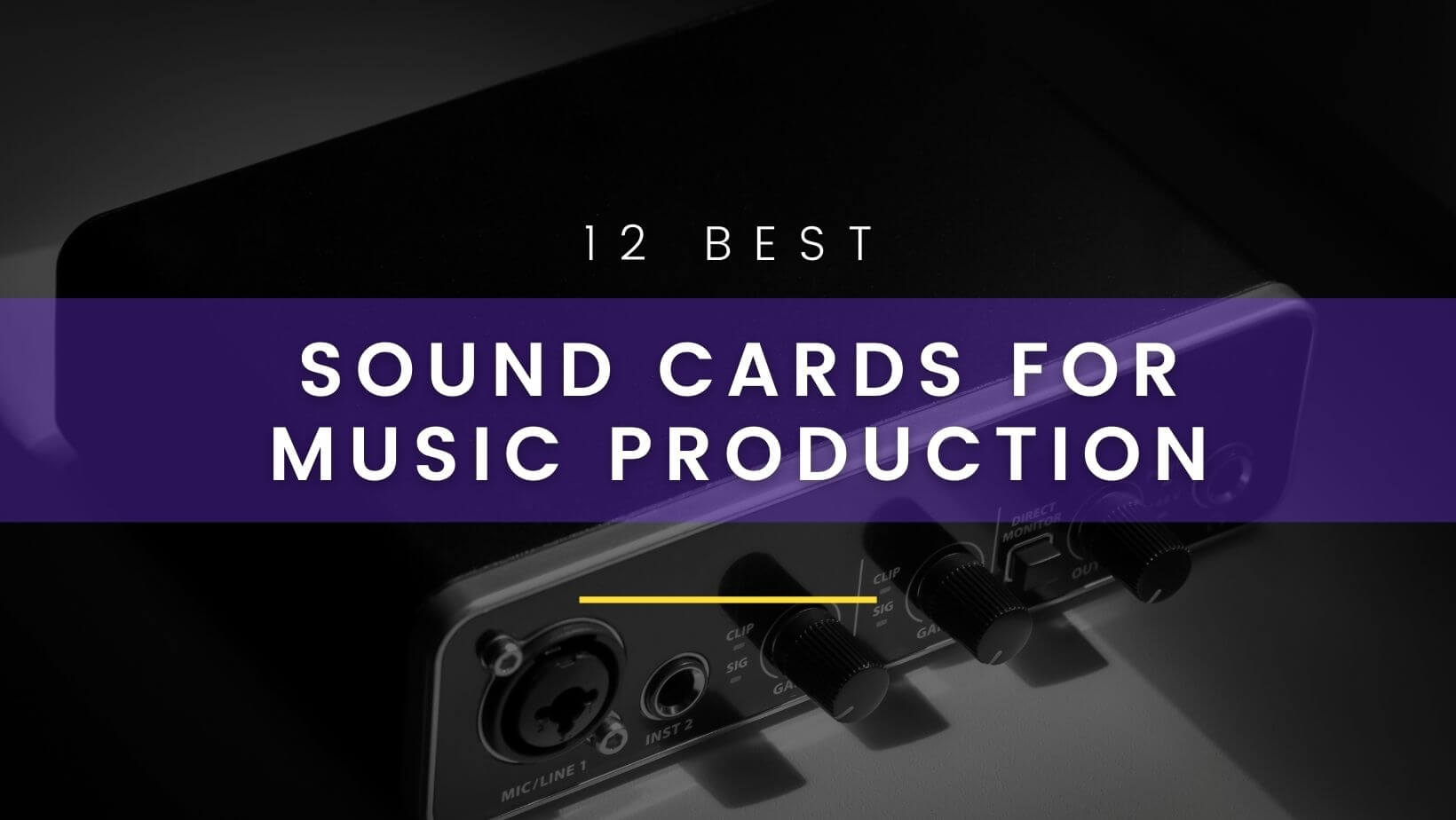 Best sound card for music production